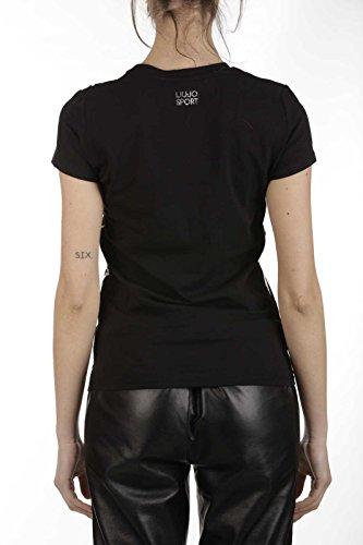 Liu Jo Sport Free Words, T-Shirt Donna a Maniche Corte T17123J7924 Nero