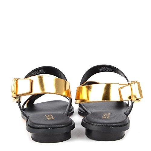 Michael Kors Michael by Chaussures Mackay Sandales Noir et Or Femme Noir/Or
