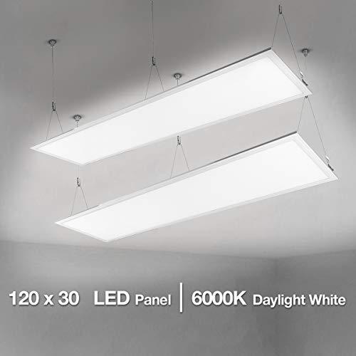 LE 120x30cm LED Panelleuchten Deckenleuchte Büroleuchte, Kaltweiß/6000K/4000lm/40W, ersetzt 80W Leuchtstoffröhren, 2er Pack