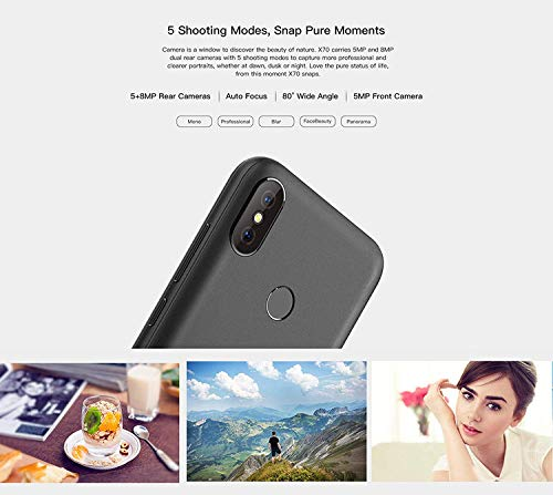 DOOGEE X70 – Smartphone 5 5 Inch Screen, Android 4000mAh Battery, Dual Rear  Cameras, Face Detection + Fingerprint 8 1 SIM Free Mobile Phone 2GB/16GB