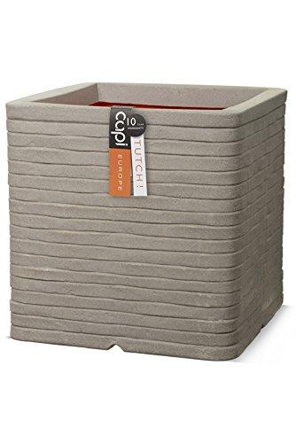 Capi kgrro902Nature Übertopf quadratisch Reihe, grau, gebraucht kaufen  Wird an jeden Ort in Deutschland