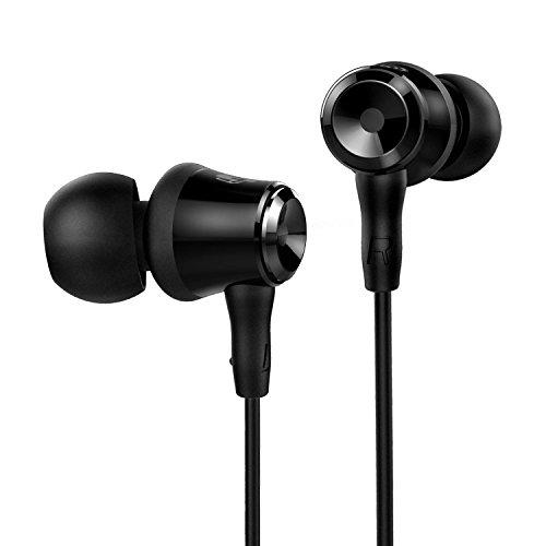 SoundPEATS B10 3.5mm hanno fissato con filo auricolari auricolari speciale design leggero In-Ear auricolari, isolamento da rumore, tappi per le orecchie sostituibili - Nero (SoundPEATS B10 Nero)