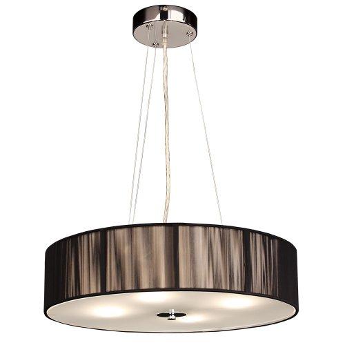 S`Luce - Lampadario a sospensione Twine, a 4 luci, LD001 ø 50/H12, colore: Nero