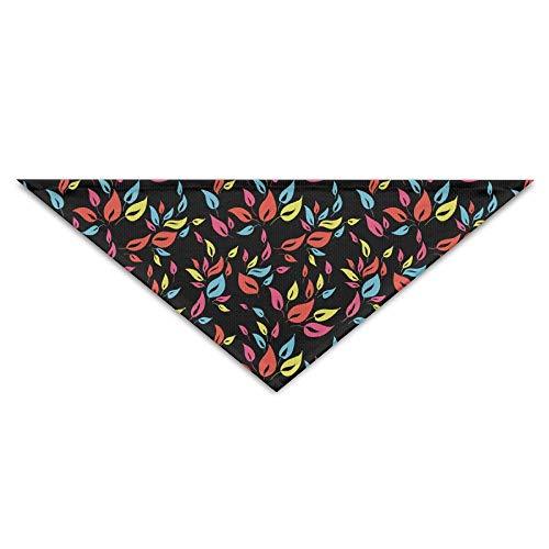 dfegyfr Color Leaves Seamless Triangle Pet Scarf Dog Bandana Pet Collars for Dog Cat - Birthday