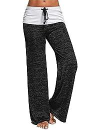ea4442a532f4b Wide Leg Pants Femme Taille Haute Wide Leg Pants Grande Taille Élégant Mode Hipster  Pantalons Jogging