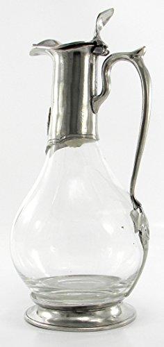 Dekanter-Flasche aus Hartzinn, für Wein, handwerklich hergestellt