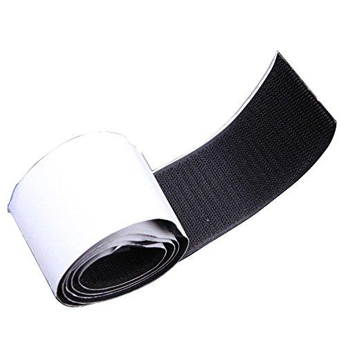 Rollo de gancho - TOOGOO(R)50MM Gnacho & Aro Adhesivo Negro Pesado Cinta de velcro Sujetador de cinta