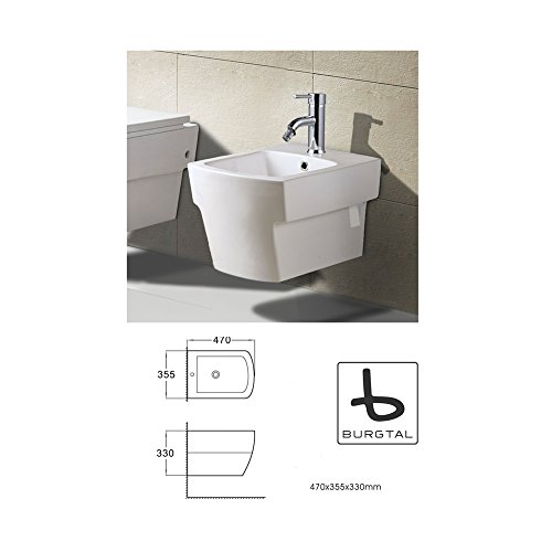 Burgtal 17711 Design Keramik Hänge Wand Bidet Novara BB-05