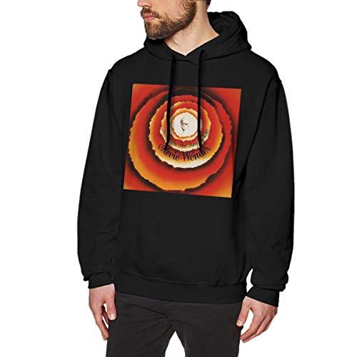 Ytdbh Herren Hoodie Kapuzenpullover, Men\'s Hoodie Pullover Stevie Tshirt Wonder Hooded Sweatshirt Cotton Sweater Black