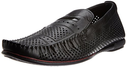 Red Tape Men's Slip On Black Leather Formal Shoes – 11 UK 418mT5x40ZL