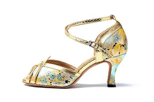 Heel Damen 6cm Gold Miyoopark Tanzschuhe Damen Miyoopark H0BZFgqx4
