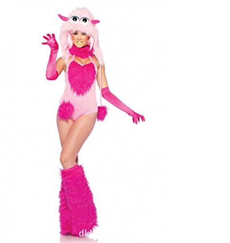 DLucc Halloween-Kostüm rosa Kleid Little World of Warcraft Rollenspiel- Reihe von Plüschtier Cosplay Kleid Kleidung (Wow Halloween Kostüme)