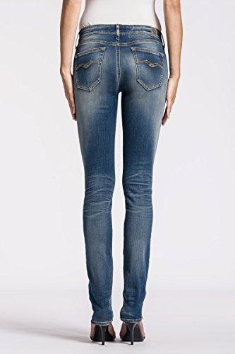 Replay Hyperflex Damen Straight Leg Jeans Vicki Blau (Blue Denim 9)