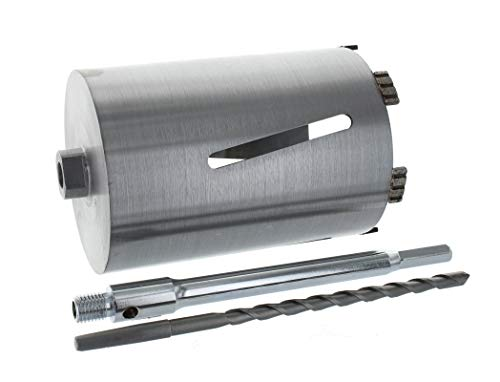 Diamant Bohrkrone Sechskant lang (200mm) Aufnahme und Zentrierbohrer Nutzlänge 180 mm Ø 112 mm Betonbohrkrone Kernbohrer
