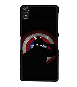 printtech Superhero Avengers Shield Back Case Cover for Sony Xperia Z3 , Sony Xperia Z3 D6653 D6603