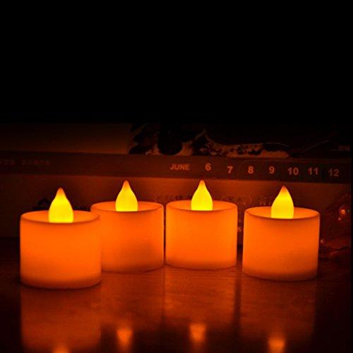 Sunlera Forma de la vela Led Fliker Vela sin llama Decoración de la luz