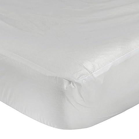 Homescapes Protège matelas IMPERMEABLE, (200 x 150cm). Hypoallergénique, anti acarien, élastique, Couleur BLANC