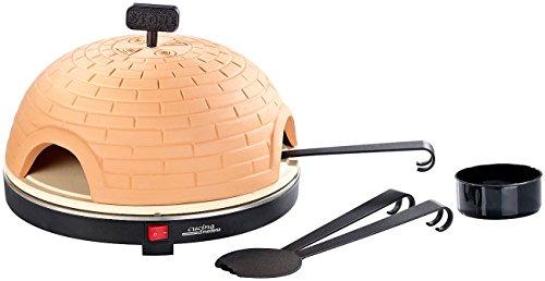 Cucina di Modena Pizza Dome: Pizzaofen mit Terrakotta-Haube & Schamottenstein-Platte, Ø 40 cm (Pizzaofen für den Tisch)