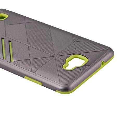 YHUISEN LG X5 Case, 2 In 1 Rüstung Tough Style Hybrid Dual Layer Rüstung Defender PC + TPU Schutzhülle für LG X5 ( Color : Gray Red ) Gray Green