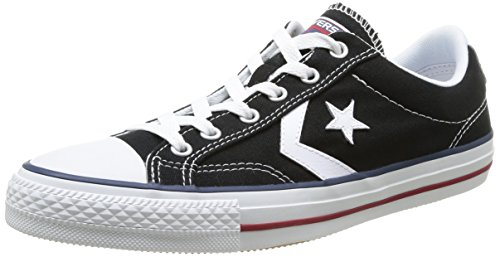 Converse Star Player Adulte Core Canvas Ox - Zapatillas Deportivas, Unisex, Color Negro (Noir (8 Noir/Blanc)), Talla 45