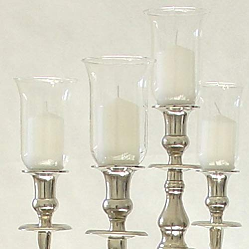 Dekowelten 13,5cm Großer Glasaufsatz Klar - Glas Teelichthalter f. Kerzenleuchter Teelichtaufsatz Klar-glas