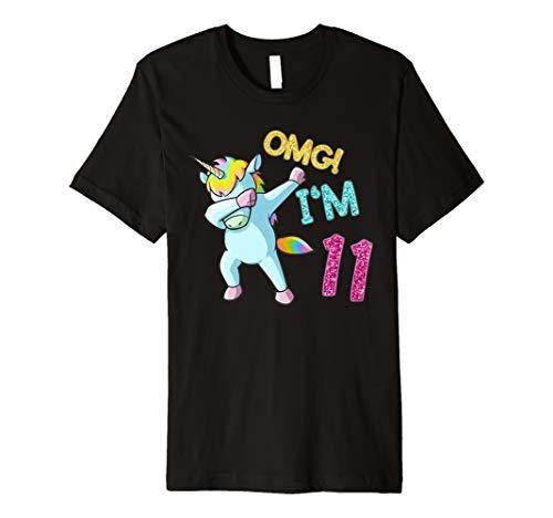 Horse Girl Kostüm - 11. Geburtstag Dab Einhorn T-Shirt OMG 11 Jahre alt Geschenk