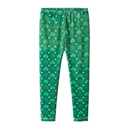 Irish Baby-outfits (HEETEY Kleinkind Baby Kinder Mädchen Jungen St.Patrick's Day Shamrock Irish National Day Pants Gestreifte Leggings mit Kleeblatt und Langen Hosen)
