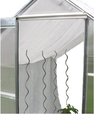 Gewächshaus Schattiernetz/Hagelschutz – Breite 1,5m x Länge wählbar, weiß