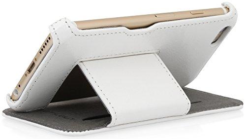"""StilGutUltraSlim V2, Hülle mit Standfunktion für Apple iPhone 6 Plus (5.5""""), schwarz Weiß vintage"""