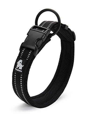 Rantow Cuello de perro fuerte transpirable Collar de perro de seguridad ajustable cómodo para...