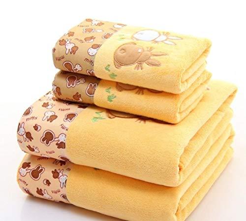 HUILIN 2 Teile/Satz mikrofaser Elegante gestickte Handtuch Sets solide 1 stück Gesicht Handtuch und 1 stück Badetuch schnell trocknend handtücher Bad für Erwachsene, als Foto, Handtuch Set 2 stücke - Handtuch-set Monogrammiert