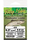Frosch Haar Konisch Spitze 9,5'Stiff Butt/Flexible Leader, 3X