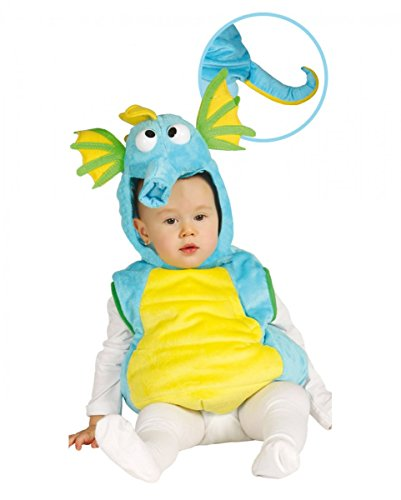 Horror-Shop Süßes Seepferdchen Babykostüm für Fasching & Karneval 12-24 Monate