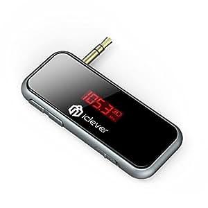 iClever IC-F50 Trasmettitore FM Universale per Auto -- Colore Grigio