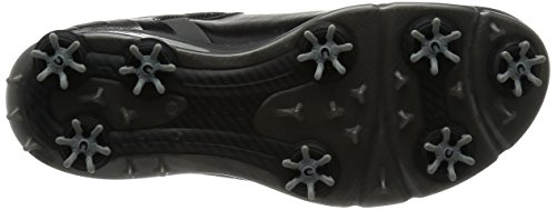ECCO Men's Biom G2 Golf Shoe, Black/Transparent, 41 EU/7-7.5 M US