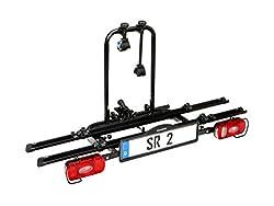 Bullwing SR2 Fahrradträger für Anhängerkupplung, 2 Fahrrädern, klappbar mit Schnellverschluss und Diebstahlschutz