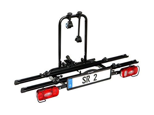 Bullwing SR2 Fahrradträger für 2 Fahrräder auf Auto Anhängerkupplung Heckträger abklappbar Radträger mit Schnellverschluss und Diebstahlschutz