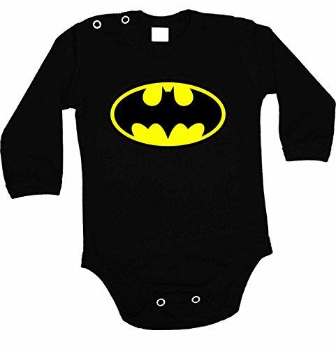 Body de Batman colour negro logo y body de manga larga negro Talla:62 3-6 Months
