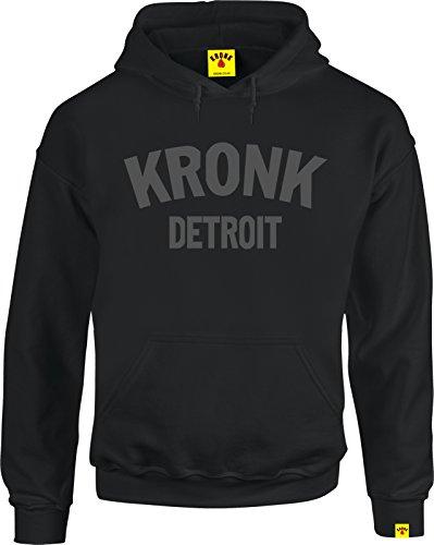 Kronk -  Felpa con cappuccio  - Uomo Black Charcoal XX-Large