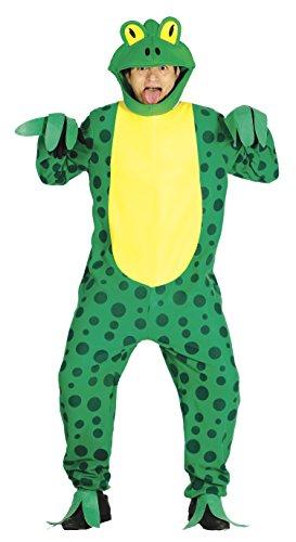 Guirca Kostüm Frosch für Erwachsene Unisex, Grün, Größe L (52-54), - Für Erwachsene Kröte Kostüm