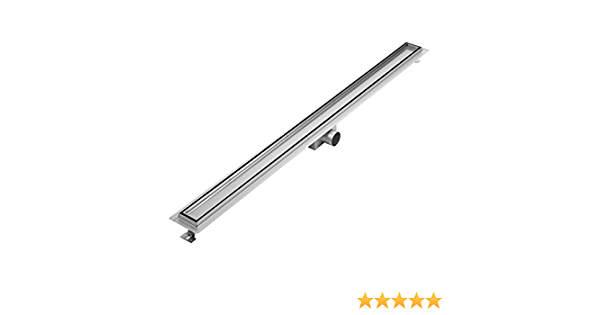 Milano Tile Insert Linear Brushed Stainless Steel Shower Drain 1200mm Channel Amazon Co Uk Diy Tools