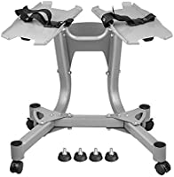Skyland Unisex Adult EM-9262 Dumbbells Stand With Wheels - Silver, 63.5x67.05x68.3 cm