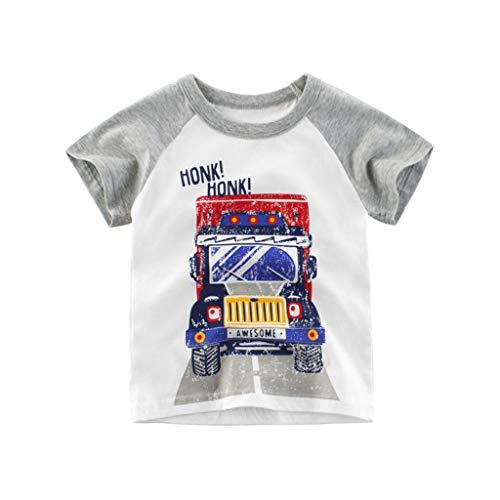 (Yanhoo-Kinder Baby Top, Kinder Baby Mädchen Jungen Cartoon Shark Druck T-Shirt T Tops Kleidung Jungen Kurzarm T-Shirt Kinder T-Shirt mit Spruch für Jungen Mädchen Unisex Kurzarm)