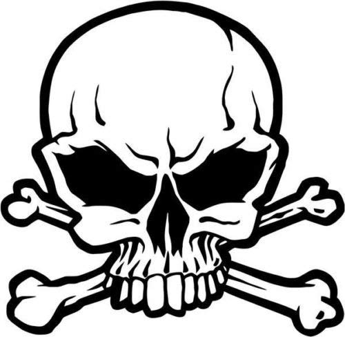 Pirate Skull Jolly Rogers Vinyl Graphic Car Truck Windows Decor Decal Sticker - Die Cut Vinyl Decal for Windows, Cars, Trucks, Tool Boxes, laptops, MacBook - virtually Any Hard, Smooth Surface Rogers Cup