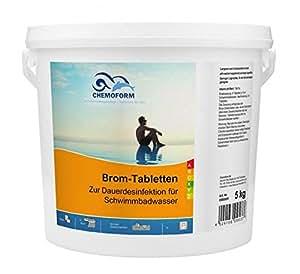 Chemoform tablettes de brome 5 kg poids :  0,2 g.