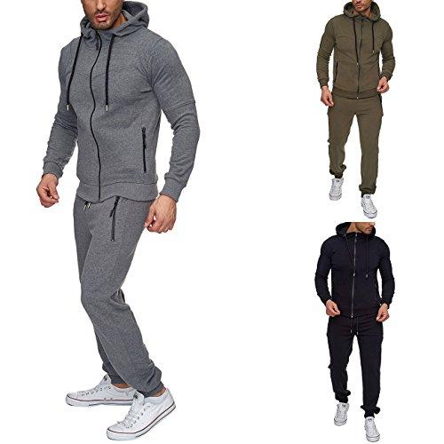 Reslad Jogging-Anzug Herren Trainingsanzug Sport-Anzug Jogging-Hose + Oberteil RS-5063