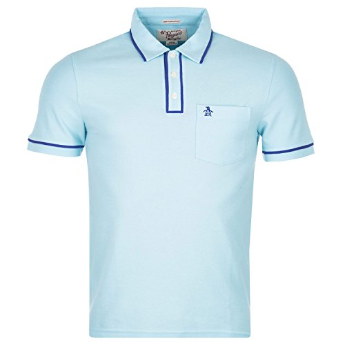 Original Penguin The Earl Polo-Polo Uomo,    azzurro small