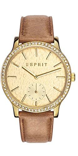 Esprit Jamie Women'- Armbanduhr Analog Quarz Leder braun ES108112002