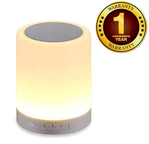 Azacus Wireless Portable Bluetooth Speaker with Smart Touch LED Mood Lamp, SD Card and Mic