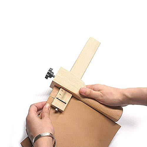 BELLE VOUS Riemenschneider - (19.2cm x 18cm) Leder Werkzeug mit Messer Leder Schneider DIY Haushaltsartikel - Stoffschneider mit 5 Schneider und Inbusschlüssel - DIY